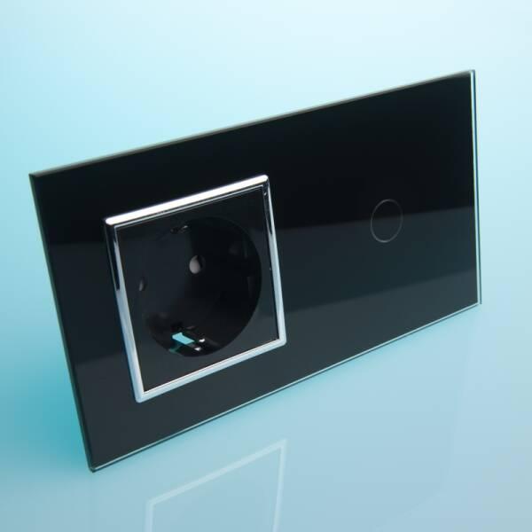 Vl C701eu Bc Gniazdo Elektryczne 16apojedynczy Włącznik Dotykowy Czarne Szkło